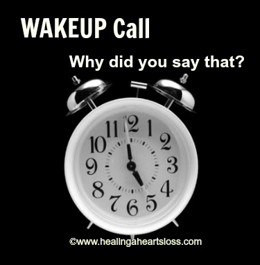 """WAKEUP Call""…Why Did You Say That?"
