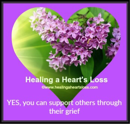 YES, you can support others through their grief