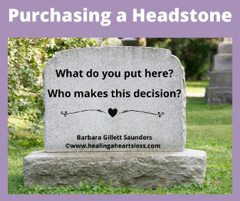 Purchasing a Headstone, Grave Marker or Monument
