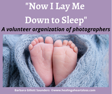 """Pregnancy Loss Photos with """"Now I Lay Me Down to Sleep"""""""